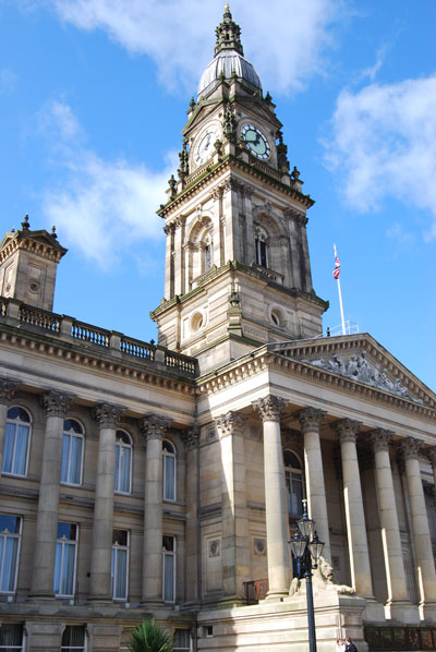 Bolton Town Hall today